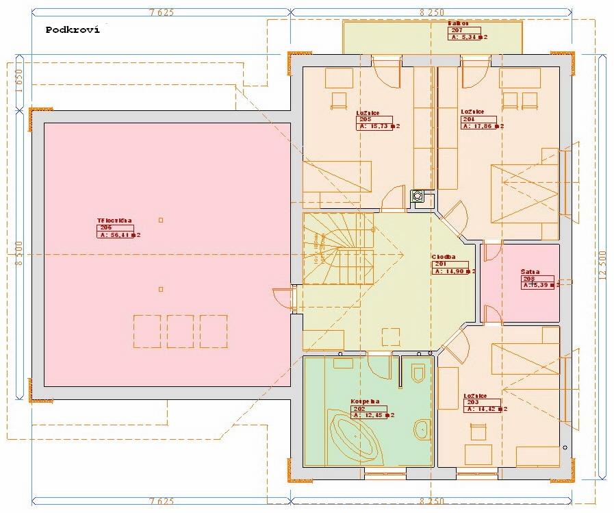 Projekty domů - Prozi 258