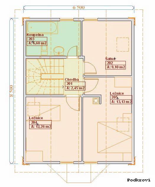 Typové projekty rodinných domů - Prozi 103