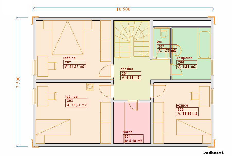 Typové projekty rodinných domů - Prozi 125