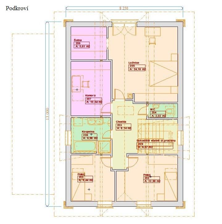 Projekty patrových domů - Prozi 192