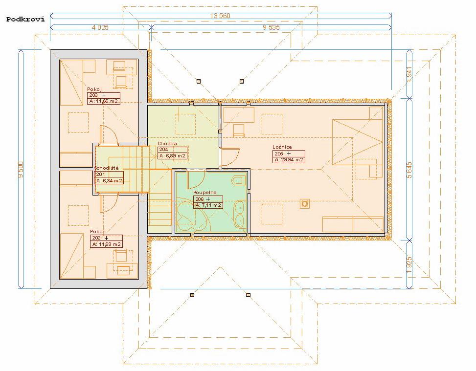 Projekt rodinného domu - Prozi 200