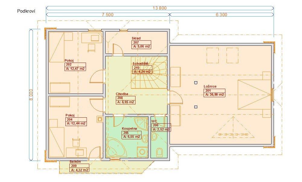 Typové projekty rodinných domů - Prozi 177