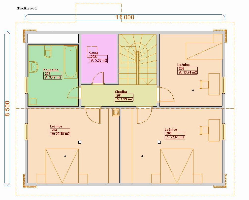 Individuální projekty rodinných domů - Prozi 156
