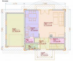 Typové projekty rodinných domů - půdorys 1.NP 79