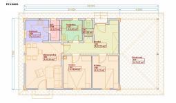 Projekty domů - půdorys 75