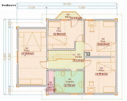 Projekt rodinného domu - Prozi 136