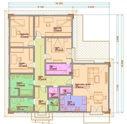 Projekt rodinného domu - Prozi 144